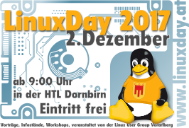 LinuxDay 2017 am 2. Dez in Dornbirn