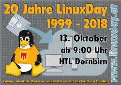 LinuxDay 2018 am 13. Okt in Dornbirn